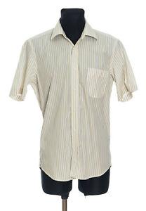 *** BOSS Hugo Boss *** Men's Striped short sleeved Shirt Size 39 - 15 1/2