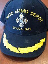 c21d378b2b05d U.S. NAVY NATO AMMO DEPOT SOUDA BAY NAVY BLUE SNAPBACK CAP HAT