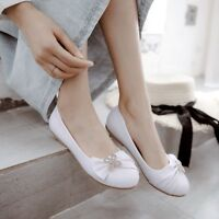 Cute WOmen's Girls Ballet Flats Loafers Slip-On Round toe Comfy Shoes US4.5-10.5