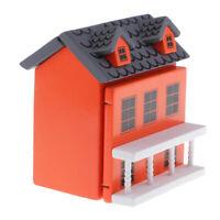MagiDeal 1:12 Miniature Wooden Hut House Toy Dolls House Accessories Orange