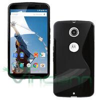 Pellicola+Custodia cover Wave NERA per Motorola Google Nexus 6 case lucida opaca