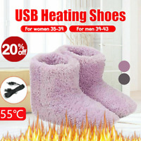 Winter USB Warmer Foot Shoes Plush Warm Electric Slipper Feet Heat Washable HOT!