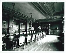 Vintage B&W Photo Interior meeting room - ornate woodwork  Victorian Style