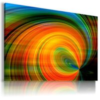 PAINTING COLORFUL SPIRAL Abstract PRINT Canvas Wall Art Picture  AB954 MATAGA .