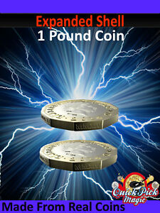 New Pound Expanded Shell Coin / MADE FROM REAL COINS! £1 CLOSE UP MAGIC TRICK!