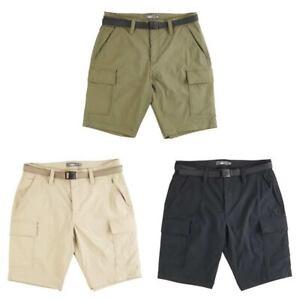 Mens Cargo Walking Shorts MOUNTAIN RIDGE Summer Hiking Pockets Inc. PLUS Size