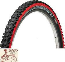 "PANARACER FIRE PRO TUBELESS COMPATIBLE 26"" X 2.10"" BLACK/RED FOLDING BEAD TIRE"