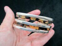 Vintage-Silver Tone w/Faux Tortoise Cuff Bracelet