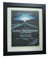 CLOSE ENCOUNTERS OF THIRD KIND+POSTER+AD+ORIGINAL 1978+FRAMED+FAST WORLD SHIP