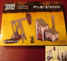 Plast Craft Games PA004 ColorED Post Apocalypse Power Station Terrain Scenery