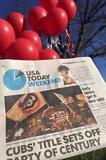 CELEBRATE PARTY CHICAGO CUBS 2016 WORLD SERIES CHAMPIONS USA TODAY NEWSPAPER