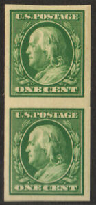 U.S. 343 vertical pair (SCV$20.00) VF, NH, 1908