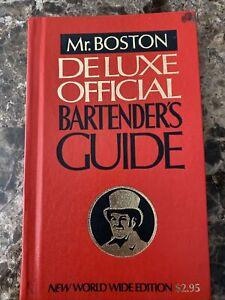 Vintage Old Mr. Boston Deluxe Official BARTENDER'S GUIDE Hardbound Book