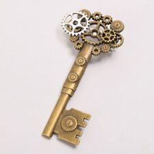 Vintage Gear Key Pattern Retro Medieval Victorian Breastpin Steampunk Brooch Pin