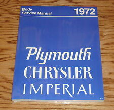 1972 Plymouth Chrysler Imperial Body Service Shop Manual 72