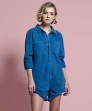 One Teaspoon SAPPHIRE PROPHECY JUMPSUIT Size XS Romper Blue Long Sleeves NWT