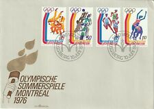 1976 Liechtenstein FDC cover Olympic Games - Montreal, Canada