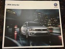 2016 VW Jetta GLI 4-page Original Sales Brochure
