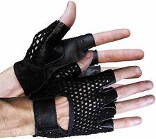 Vance Leather Mesh Back Fingerless Gloves XXL