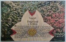 Florida Postcard Vtg Early 1900s Legend of the Dogwood Daytona