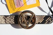 NWT VALENTINO WOMEN'S GENUINE LEATHER BABY BELT SIZE L  B1065 NATURAL