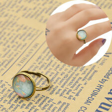 Vintage World Map Glass Dome Ring Adjustable Finger Rings Women Jewelry Pop Gift
