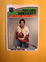 """1976-77 O Pee Chee Record Breakers #67 Bryan Trottier """"most Points,season,rookie"""