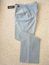 Michele pale grey wool flannel trousers. Size 10. RRP £129