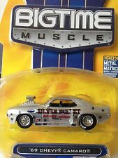 JADA TOYS BIGTIME MUSCLE 2007 WAVE 12  69 CHEVY CAMARO 1:64  (SCALE)  NEW