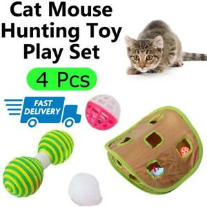4Pcs Cat Pads Corrugated Scratcher Soft Mat Bed Claws Hunting Time Curious Cats
