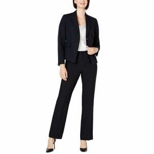 LE SUIT NEW Women's Petite Pinstripe Two-button Pantsuit Two-Piece 8P TEDO