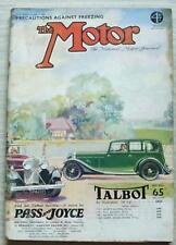 The MOTOR Magazine 12 Dec 1933 Lanchester Ten & Standard 12 Road Tested