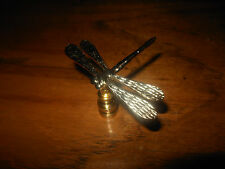 Distinctive Polished Brass Dragon Fly Lamp Finial