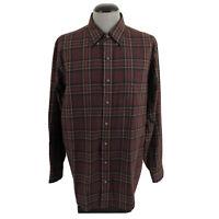 Viyella Mens XL Cotton Wool Blend Plaid Button Down Soft Flannel Shirt