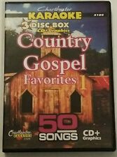CHARTBUSTER KARAOKE CDG   COUNTRY GOSPEL   (5102)  3 DISC  SET  50 TRACKS   NEW
