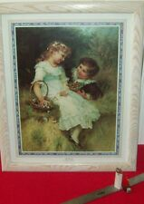 """listed artist,  FREDERICK MORGAN ORNATELY FRAMED LITHOGRAPH.""""SWEETHEARTS"""""""