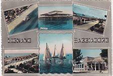 UDINE LIGNANO SABBIADORO 18 VEDUTINE Cartolina FOTOGRAFICA viaggiata 1955