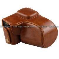 Leather Camera Case Bag Strap For Olympus PEN E-PL3 EPL3 EPM1 E-PM1 14-42mm lens