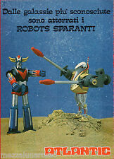 Pubblicità Advertising  ATLANTIC 1979 Robots sparanti GOLDRAKE