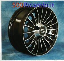 """FIAT 500 F/L/R 126 4 CERCHI IN LEGA NERI DIAMANTATI RUOTE DA 12"""" 4 x 98 EPOCA"""