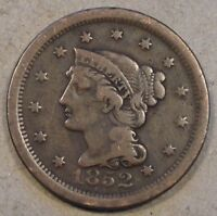 1852 Braided Hair Large Cent Low-Mid Grade Please see Pictures