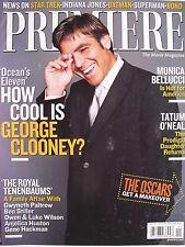 GEORGE CLOONEY   January 2002 Premiere Magazine  TATUM O'NEAL   MONICA BELLUCCI