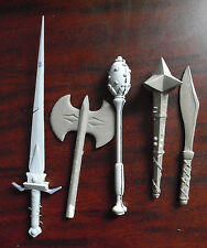Lot of Unique Plastic Resin Prototype Lord of the Rings Action Figure Weapons
