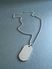 Silver Tone Metal Dog Tag Pendant Necklace