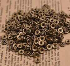 100PCS Flower Bead Caps Floral Spacer Beads 6MM Tibetan Silver Alloy M3081