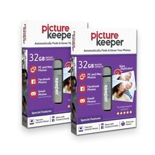Picture Keeper 32GB Automatic USB Photo Backup Device for Computers (2 Pack)