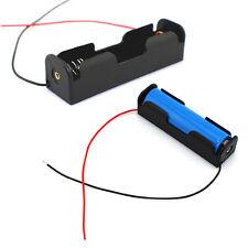 GUT 10pcs Black Battery Storage Box Case Holder for 3.7V18650x1 Batteries