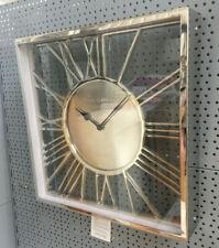 Shiny Nickel & Glass Square Wall Clock