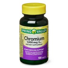 Spring Valley Chromium 1,000 mcg, Metabolism Support, 100 Tablets