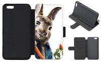 PETER RABBIT inspired Wallet Flip Phone Case iPhone Galaxy 4 5 6 7 8 Plus X (B)